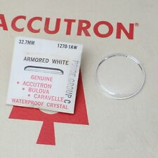Bulova Accutron Watch Crystal 32.7mm Part #1270-1AW Armored White New Old Stock