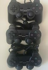 3 x PS2 Black Wired Game Controller