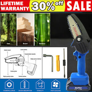 Electric Chain Saws Wood Cutting Pruning ChainSaw Cordless Tree Logging Trimming