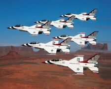 U.S. AIR FORCE THUNDERBIRDS MONUMENT VALLEY 11x14 SILVER HALIDE PHOTO PRINT