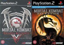 Mortal Kombat Deception & mortal alianza PAL PS2