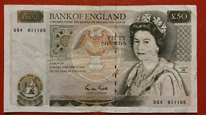 Bank Of England £50 Note. D54 611165.