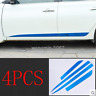 4PC For Nissan Sentra 2014-2018 Blue stainless Side Door Body Molding Cover Trim