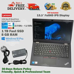 "Lenovo ThinkPad 13.3"" 1TB SSD 11th Gen Intel i5 Xe 2.4GHz- 4.2GHz 8GB RAM Laptop"