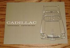 1957 Cadillac Full Line Sales Brochure 57 Sixty Two Fleetwood Eldorado