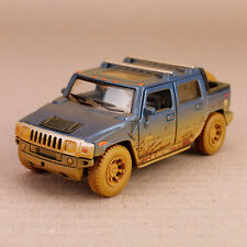 2005 Blue Hummer H2 SUT Mud-Spattered Model Car 1:40 Scale Die-Cast 12.5cm