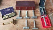 Vintage Gillette Safety Razor Lot Antique Shaving
