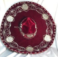 Sombrero Silver Trim And Sequins Mexican Hat