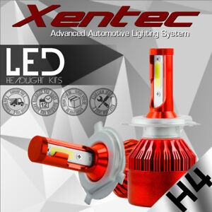 H4/ 9003/ HB2 488W 48800LM COB LED Headlight Bulbs Kit Hi/Low Beam 6000K-6500K