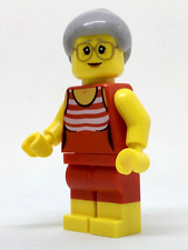 LEGO City Fun At The Beach Old Lady Minifigure In Bathing / Swim Suit From 60153