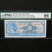 1972 Mexico  50 Pesos, Pick # 49u, PMG 66 EPQ  Gem Unc.
