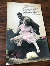 Rppc Hand Painted Love Letter Valentine Costa Rica Spanish Poem 1925 Postcard