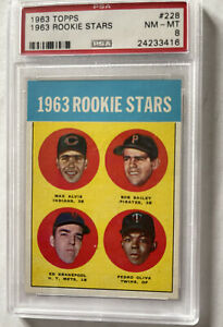 1963 Topps #228 TONY OLIVA ROOKIE CARD Minnesota TWINS NM-MT PSA 8