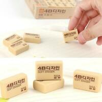 10Pcs 4B Pencil Rubber Eraser 50A for Art Drawing Writing Office Students Gifts