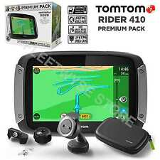TomTom Rider 410 Premium Pack World Maps Great Rides GPS Motorcycle SAT NAV