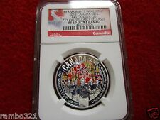 2015 Canada 1/2oz Colorized Silver COIN $10 WOMENS FIFA Cup Go Canada NGC PF69