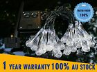 20 LED Solar Water Drop String Lights Crystal Effect Garden Outdoor String Light