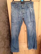 "Mens' Firetrap Waist 30"" Leg 32""R Blackseal Blue Boot Cut Jeans"