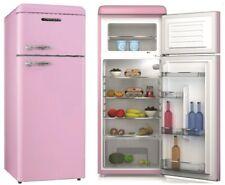 Schneider A++ Kühlgefrierkombination Retro Design Kühlschrank Pink Rosa Rose NEU