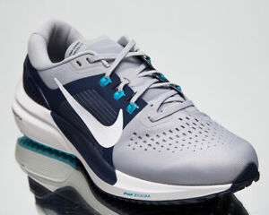 Nike Air Zoom Vomero 15 Men's Grey White Navy Running Jogging Shoes Sneakers
