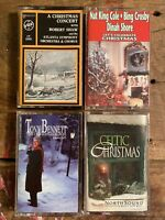 Christmas Cassette Lot of 4 Tapes- Various Artists - Holiday Music