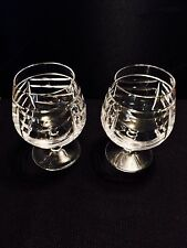 Rare Tiffany & Co. Pair Of Swag Brandy Glasses Discountinnued