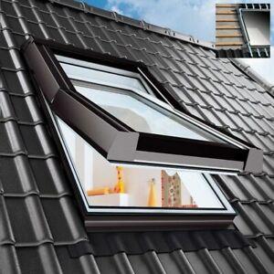 Kunststoff Dachfenster mit Eindeckrahmen +Rollo Bestseller Top Skylight AFG