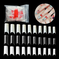 Acrylic Fake Nail Curve Faux Ongles Transparent Natural White Artificial 500pcs