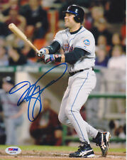 Mike Piazza Signed 8x10 New York Mets Photo - MLB Away Gray Follow Thru PSA/DNA