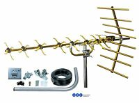 OUTDOOR LOFT GOLD 48 ELEMENT 4G READY DIGITAL FREEVIEW TV AERIAL INSTALL KIT