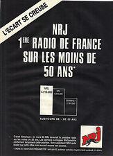 PUBLICITE ADVERTISING 1993 NRJ radio  la première radio sur les moins de 50 ans