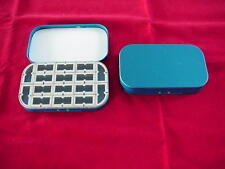 Stone Creek Aluminum 16 Compartment Fly Box in Blue Great New