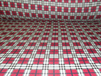 60 Inch Width Red Plaid Polar Fleece, Material,Fabric,Soft /Washable +