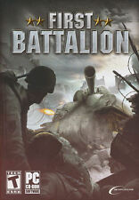 FIRST BATTALION - US Version - World War II WW2 Combat PC Game - NEW in BOX!