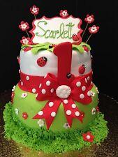 12 of Edible Topper Lady Bugs Fondant Gumpaste Cupcake, Cake decoration