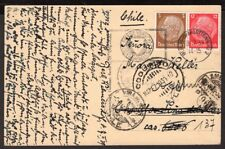 4006 GERMANY TO CHILE POSTCARD 1939 READDRESSED RPO AMBULANCIA 96 TO COQUIMBO