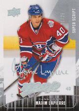 09-10 MVP SUPER SCRIPT xx/25 Made! Maxim LAPIERRE #143 - Canadiens