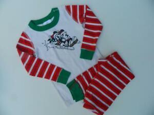 Hanna Andersson Disney Long Johns Mickey Minnie Mouse Pajamas PJs 100 4 ~ SWEET
