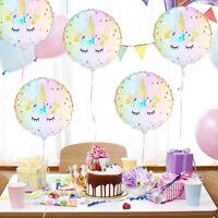 5pcs 18'' Unicorn Theme Foil Balloon Kids Child Birthday Party Supplies Decor UK