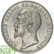 G838) Sachsen Meiningen Doppelgulden 1854 Bernhard Erich Freund, 1821-1866