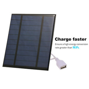 2.5W/5V/3.7V Portable Solar Charger With USB Port Compact Solar Panel Phone UK