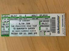 ELTON JOHN 2005 FULL CONCERT TICKET (BOSTON)