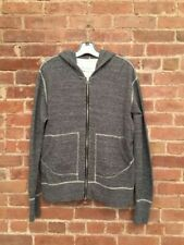 Wings + Horns Mens Hoodie, 100% Cotton Gray, Sz Large Canada