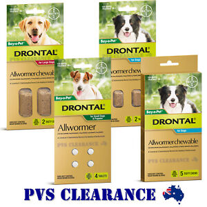 Drontal Allwormer for All Size Dogs and Puppies - Dog Worming Puppy Wormer