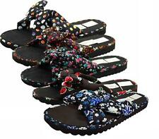 Ladies Mule Hawaiian Floral Womens Beach Slipper Slip on Shoes