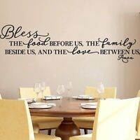 Kitchen Wall Stickers Home Decor Quote Decals Heart Removable Vinyl Decoration