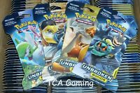 x36 SM Unbroken Bonds SEALED Sleeved BLISTER Booster Packs - Pokemon Cards