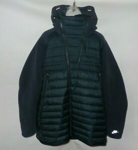 Nike Tech Fleece AeroLoft Down Jacket Parka Green Black 806838-451 Men's 4XL
