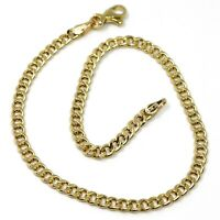 Armband Gelbgold 18K 750, Kette Halskette Groumette, Dicke 3mm, Länge 19cm