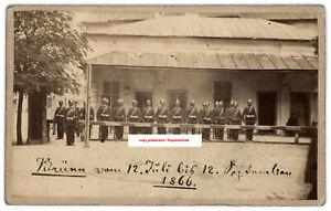 Cdv Foto Soldat,Preußen,Deutscher Krieg,Brünn 1866,photo soldier,brno,Prussia,CZ